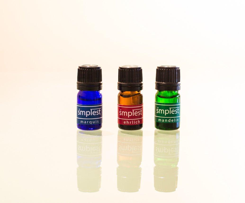 Test de Marquis. Detecta MDMA (éxtasis, cristal), anfetamina (speed), modafinil, metanfetamina, metilfenidato (rubifen), opiáceos (heroína, morfina, ...
