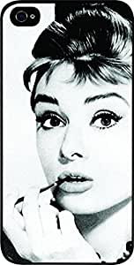 Audrey Hepburn-Close-Up - Hard Black Plastic Snap - On Case with Soft Black Rubber Lining-Apple Iphone 5C ONLY- Great Quality!