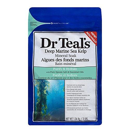 Dr Teal's Deep Marine Sea Mineral Soak, Purify & Hydrate, 3 lbs (Deep Marine)