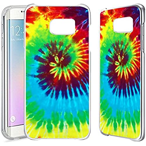 [TeleSkins] - Samsung Galaxy S7 EDGE Clear Case - Tie Dye - Ultra Durable Slim Fit, Protective Plastic Snap On Sales