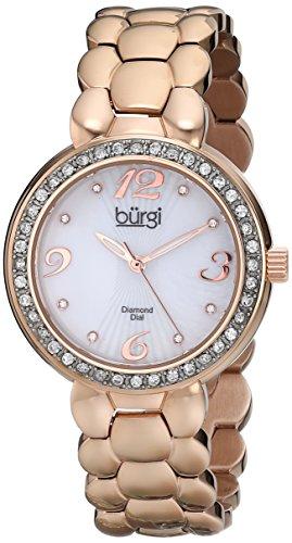 Burgi Women's BUR084RG Rose Gold-Tone Stainless Steel Watch