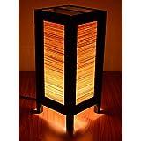 Decorative Lamp Thai Vintage Handmade Asian Oriental Original Bamboo Blind Bedside Table Light Floor Wood Paper Lamp Shades Home Bedroom Garden Decoration Modern Design