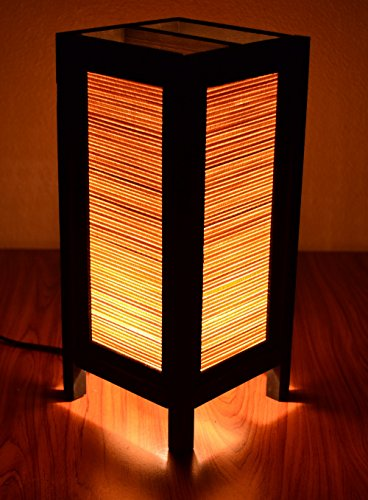 Decorative Lamp Thai Vintage Handmade Asian Oriental Original Bamboo Blind Bedside Table Light Floor Wood Paper Lamp Shades Home Bedroom Garden Decoration Modern Design