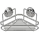 NUBAOgs Bathroom Accessories Powerful Sucker Rack Bathroom Stainless Steel Tripod Bathroom Suction Type Punch-Free Storage Rack