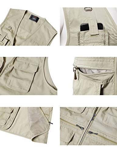 Utility Fashion Hunting Vest Travels Sports Pockets IVORY Work Multiple Mens Casual H2H with KMOV0113 5CwIXI