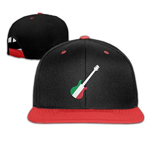 Italian Flag Guitar Adjustable Baseball Cap Hip Hop Hat For Kids ()