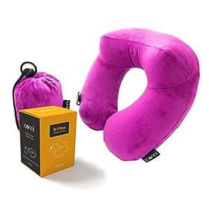 Amazon Com M Pillow Rest Easy Premium Inflatable Travel