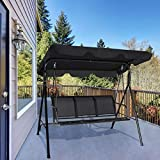 UMTEC Convertible Canopy Porch Swing Bench Chair