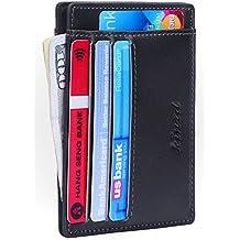 Men Slim Wallet RFID Front Pocket Wallet Minimalist Secure Thin Credit Card Holder