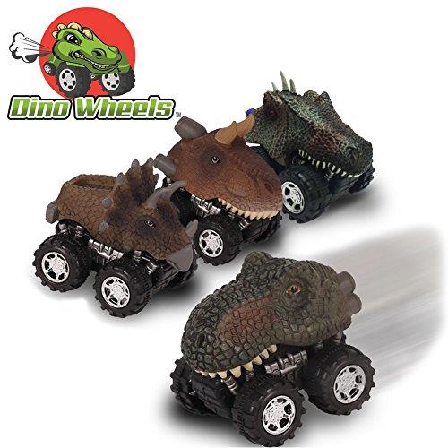 Dino Wheels Pull Back Dinosaur Toy Cars  4 Pack Mini Jurassic World Dino Model Cars Toys With Big Tire Wheel For Toddler Little Boys Girls Gift For Kids   Best Gift Idea