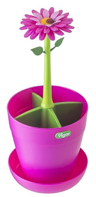 13 opinioni per Vigar Flower Power- Portaposate, colore rosa e verde