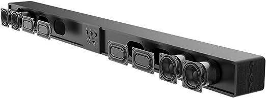 Prtukytt Barra de Sonido de Madera Ultrafina Altavoz de Cine en casa TV en casa Subwoofer de Audio 5.1 Surround 3D estéreo 4.0 Bluetooth 60W de Alta Potencia 8 Unidad de Sonido: