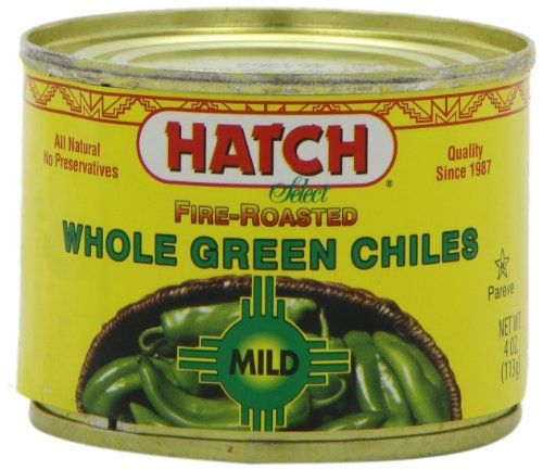 - Hatch Chile Company Fire Roasted Whole Green Chiles, Mild, 4-Ounce (Pack of 12)