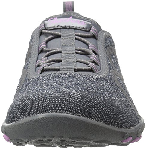 Skechers Breathe-Easy Fortune Damen Sneakers Charcoal Knit