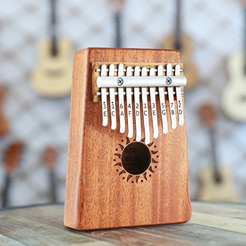 Donner 10 Key Kalimba Thumb Piano Solid Finger Piano Mahogany Body DKL-10 by Donner (Image #5)