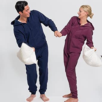7e9cbc9df3d4 New Mens Women Comfy Winter Jumpsuit Hooded All-In-One Playsuit Onesie  SleepSuit  Amazon.co.uk  Clothing