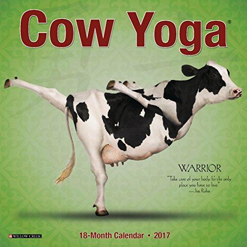 2017 Cow Yoga Mini Wall Calendar