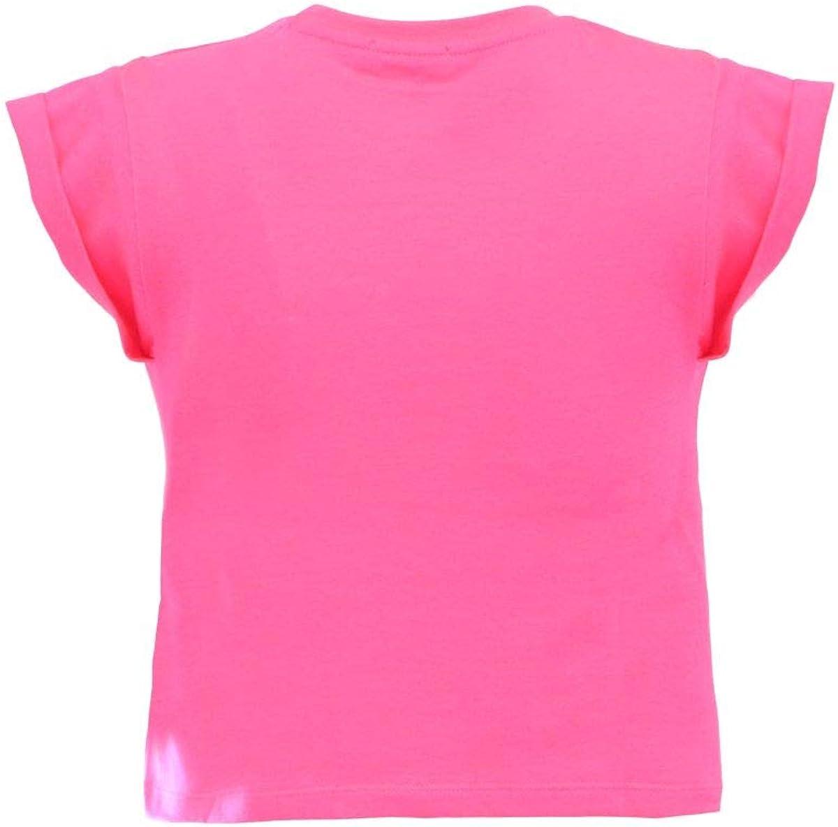 Pinko T-Shirt Fucsia con Scritte sul Davanti