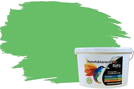Ryfo Colors Bunte Wandfarbe Manufakturweiss Bambusgrun 10l Weitere Grun Farbtone Und Grossen Erhaltlich Deckkraft Klasse 1 Nassabrieb Klasse