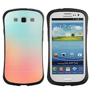 """Hypernova Slim Fit Dual Barniz Protector Caso Case Funda Para SAMSUNG Galaxy S3 III / i9300 / i747 [Vidrio melocotón rosado de rayas en color Niebla""""]"""