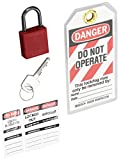 Brady Compact Lockout Tagout Padlock Personal Safety Kit - 123143