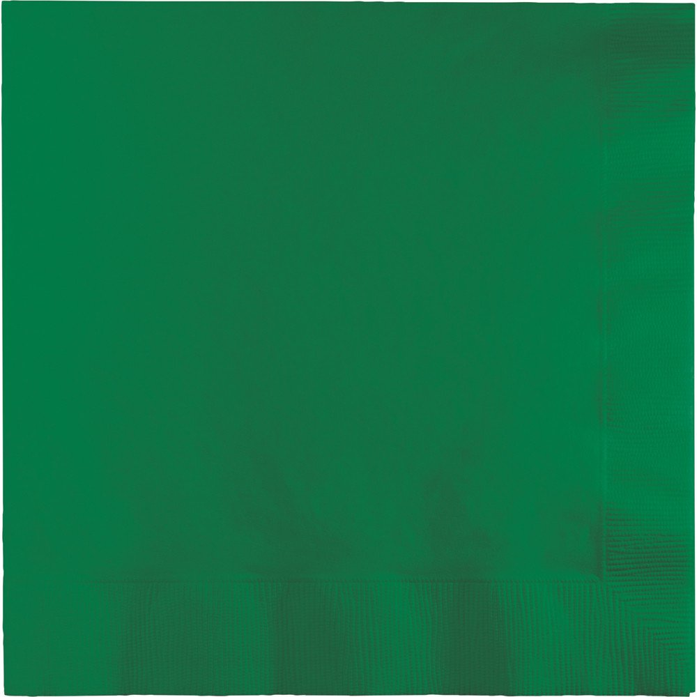 Creative Converting 240-Count Touch of Color Paper Lunch Napkins, Emerald Green - 523261 by Creative Converting