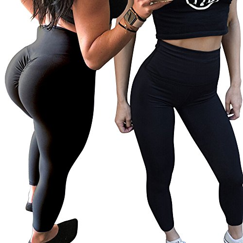 E-lip Yoga Leggings, High Waist Ruched Butt Yoga Capris