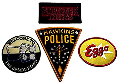 Stranger Things Patch Set of 4 Embroidered Iron
