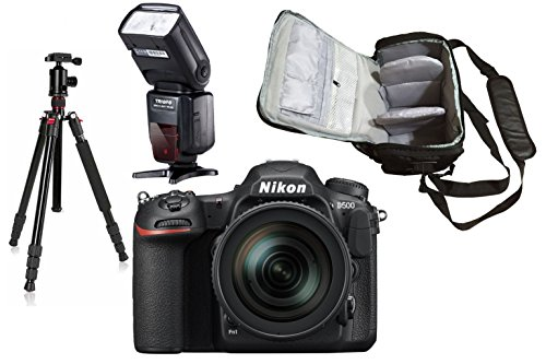 D500 DSLR Camera + AF-S DX NIKKOR 16-80mm f/2.8-4E ED VR + KamKorda Pro Camera Bag + Advanced Tripod + Speedlite Flash