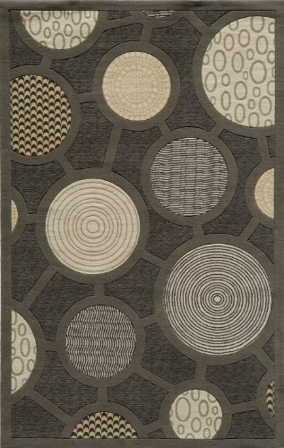 Momeni Rugs ELEMTEL-31CHR2030 Elements Collection, 100% New Zealand Wool Hand Carved Contemporary Area Rug, 2' x 3', (Momeni Elements Collection)