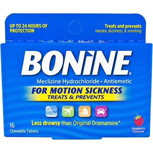 Bonine Motion Sickness Tablets  Raspberry  16 Count