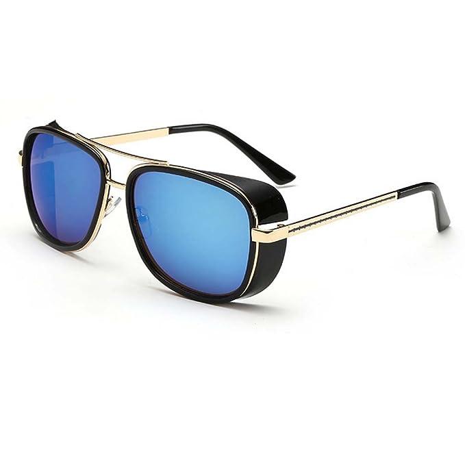 ce6303f3a5d05 Amazon.com  V House Men Women Sunglasses Iron Man Tony Driving Sunglasses  Frog Mirror Glasses C1  Clothing