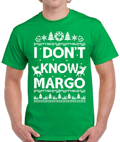 Raxo Christmas Vacation Tshirt I Don't Know Margo National Lampoon Shirt for Men Green -