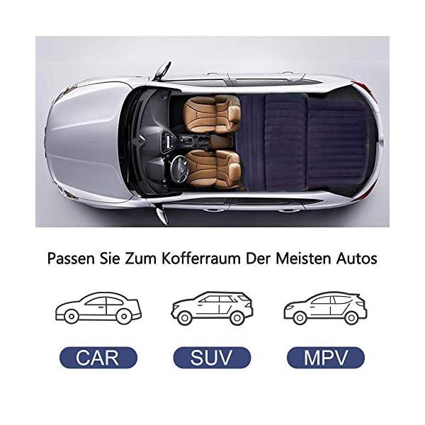 51ZWyn43kVL QDH SUV Auto Luftmatratzen-Camping Aufblasbare Matratze-Aufblasbares Bett für den Auto-Rücksitz-Dickere Luftbett Auto…