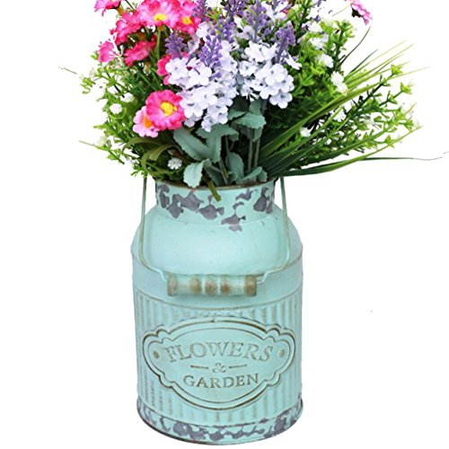 - APSOONSELL Shabby French Style Country Rustic Primitive Jug Vase Metal Pitcher Flower Vase for Wedding Party Decoration