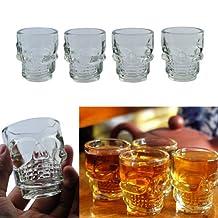 4Pcs Small Crystal Skull Head Shot Glass Whisky Beer Wine Drinking Ware