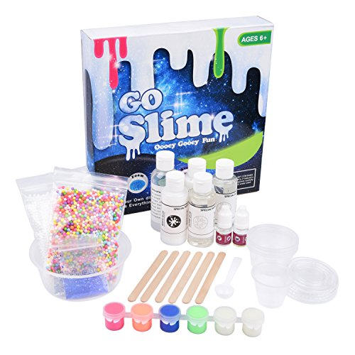 DIY Slime Kit by Special Supplies (4-in-1) Kid's Homemade Creation Set | Glitter, Foam, Glow-in-the-Dark, Scented | Girls and Boys | Safe, Non-Toxic Fun - In The To Glow A Make Party How Dark