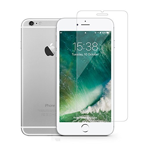 (GLASS-M Screen Protector for Apple iPhone 8, iPhone 7, iPhone 6s, iPhone 6, Tempered Glass Film with Lifetime Replacement Warranty)