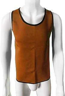 Delicacydex Maglia da Uomo Body Shaper Body Shaper Tuning Pancia Vita Trainer Corsetto Top Confortevole Biancheria Intima Vestiti Shapewear - Orange XL