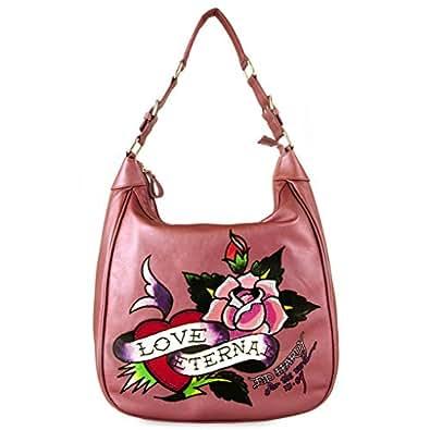 Amazon.com: Ed Hardy Belinda Eternal Love Hobo Bag - Pink