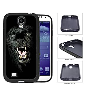Ferocious Black Panther Close-up Rubber Silicone TPU Cell Phone Case Samsung Galaxy S4 SIV I9500