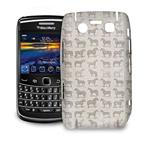 Phone Case For BlackBerry Bold 9700 - Vintage Horses Pattern on Grey Hard Premium by lolosakes