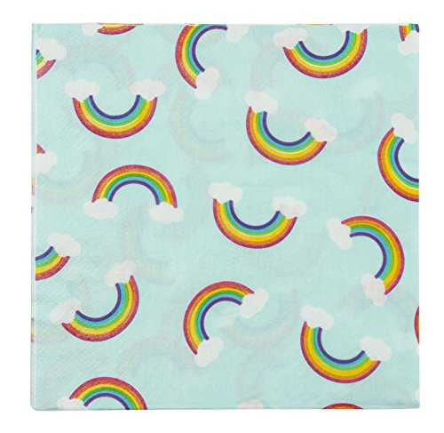 (Cocktail Napkins - 150-Pack Luncheon Napkins, Disposable Paper Napkins Rainbow Party Supplies for Kids Birthdays, 2-Ply, Unfolded 13 x 13 inches, Folded 6.5 x 6.5 inches)