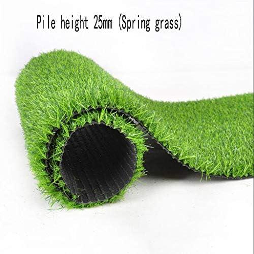 XEWNEG 25mm高密度屋外人工芝、ノンフェード、ノンスリップ、イージーケア、スプライシング、ガーデン幼稚園の装飾に適したグリーンカーペット (Size : 2×1M)