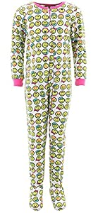Only Girls Big Girls' Novelty Footed Pajamas