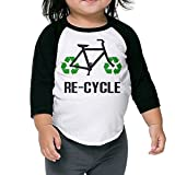 Recycle Bicycle Kids 3/4 Raglan Baseball T Shirts