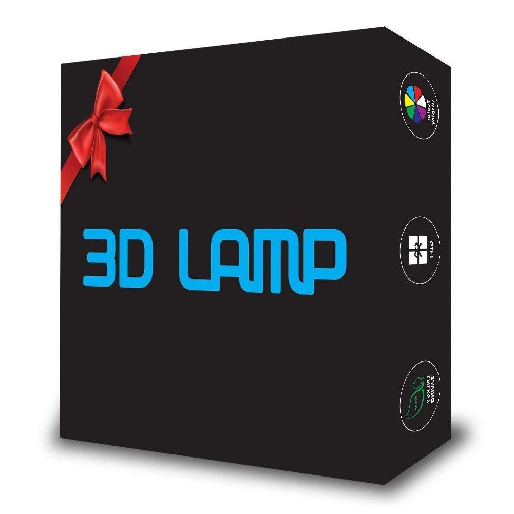 FZAI Ananas 3D Illusion Lampe LED Veilleuse Lumi/ère de Nuit 7 Couleurs Clignotant Tactile Lampe de Bureau avec C/âble USB /Éclairage de D/écoration pour Enfants Chambre Cadeau de No/ël