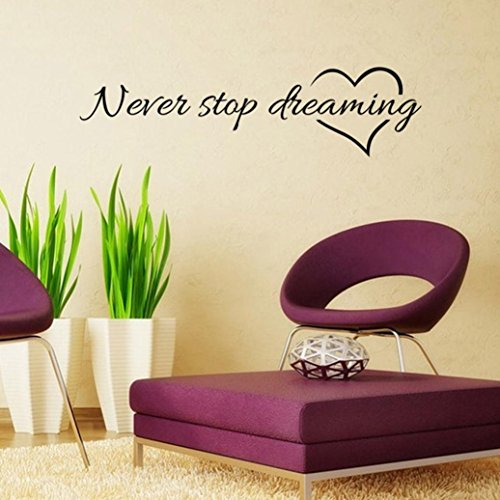 wall-stickerlaimengnever-stop-dreamingremovable-art-vinyl-home-room-mural-decor