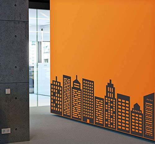 City skyline wall decal | Simple Geometric Large vinyl sticker for Office, Home, Nursery, Preschool, Playroom, Classroom, School | Removable
