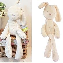 Bazaar Baby kids lovely White Bunny Rabbit Sleeping Comfort Smooth Obedient Warm Calm Doll Stuff Plush Toy